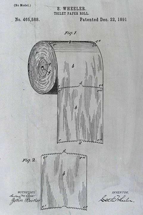 Патент 1891 года: как правильно вешать туалетную бумагу